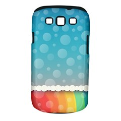 Rainbow Background Border Colorful Samsung Galaxy S III Classic Hardshell Case (PC+Silicone)