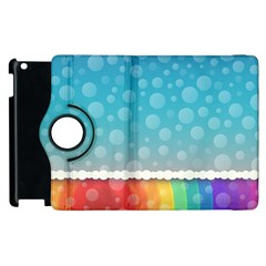 Rainbow Background Border Colorful Apple Ipad 3/4 Flip 360 Case
