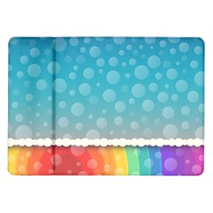 Rainbow Background Border Colorful Samsung Galaxy Tab 10.1  P7500 Flip Case