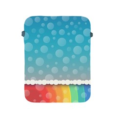 Rainbow Background Border Colorful Apple Ipad 2/3/4 Protective Soft Cases