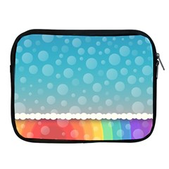 Rainbow Background Border Colorful Apple Ipad 2/3/4 Zipper Cases
