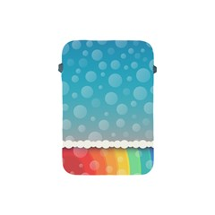 Rainbow Background Border Colorful Apple iPad Mini Protective Soft Cases