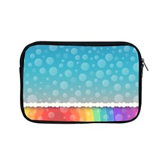 Rainbow Background Border Colorful Apple Ipad Mini Zipper Cases
