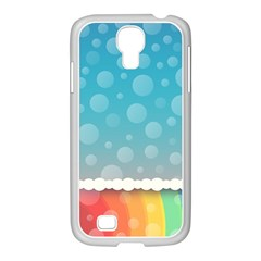 Rainbow Background Border Colorful Samsung Galaxy S4 I9500/ I9505 Case (white)