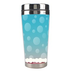 Rainbow Background Border Colorful Stainless Steel Travel Tumblers