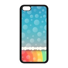 Rainbow Background Border Colorful Apple Iphone 5c Seamless Case (black)