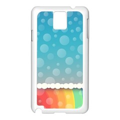 Rainbow Background Border Colorful Samsung Galaxy Note 3 N9005 Case (White)