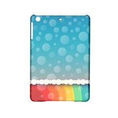 Rainbow Background Border Colorful Ipad Mini 2 Hardshell Cases