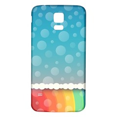 Rainbow Background Border Colorful Samsung Galaxy S5 Back Case (white)