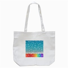 Rainbow Background Border Colorful Tote Bag (white)