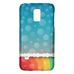 Rainbow Background Border Colorful Galaxy S5 Mini