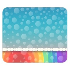 Rainbow Background Border Colorful Double Sided Flano Blanket (small)
