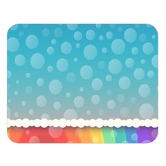 Rainbow Background Border Colorful Double Sided Flano Blanket (large)