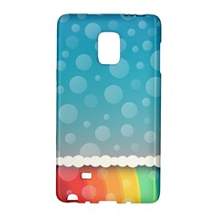 Rainbow Background Border Colorful Galaxy Note Edge
