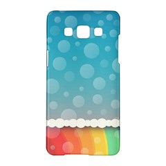 Rainbow Background Border Colorful Samsung Galaxy A5 Hardshell Case