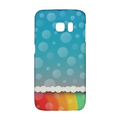 Rainbow Background Border Colorful Galaxy S6 Edge