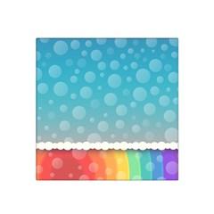 Rainbow Background Border Colorful Satin Bandana Scarf