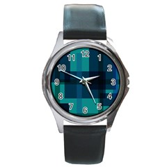 Boxes Abstractly Round Metal Watch