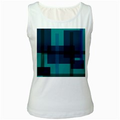 Boxes Abstractly Women s White Tank Top