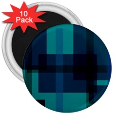 Boxes Abstractly 3  Magnets (10 pack)