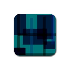 Boxes Abstractly Rubber Square Coaster (4 Pack)