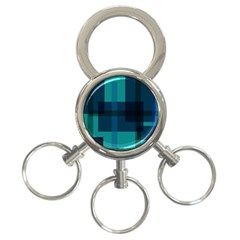 Boxes Abstractly 3 Ring Key Chains