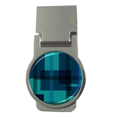 Boxes Abstractly Money Clips (round)