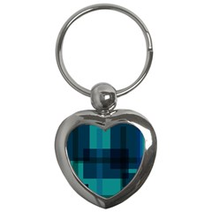 Boxes Abstractly Key Chains (heart)
