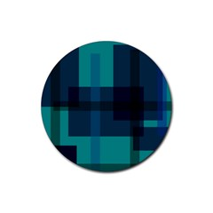 Boxes Abstractly Rubber Coaster (round)