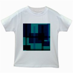 Boxes Abstractly Kids White T-Shirts