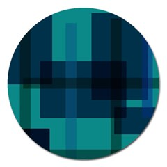 Boxes Abstractly Magnet 5  (Round)