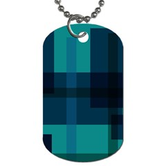 Boxes Abstractly Dog Tag (one Side)