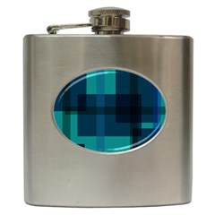 Boxes Abstractly Hip Flask (6 Oz)