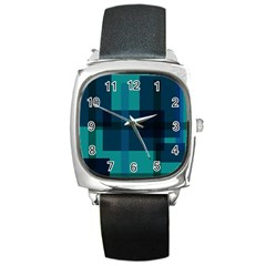 Boxes Abstractly Square Metal Watch