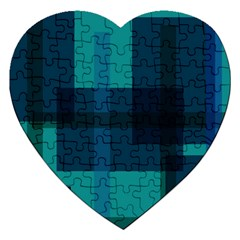 Boxes Abstractly Jigsaw Puzzle (heart)