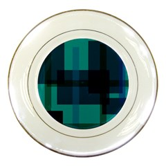 Boxes Abstractly Porcelain Plates