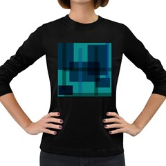Boxes Abstractly Women s Long Sleeve Dark T Shirts