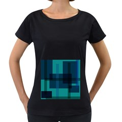 Boxes Abstractly Women s Loose Fit T Shirt (black)