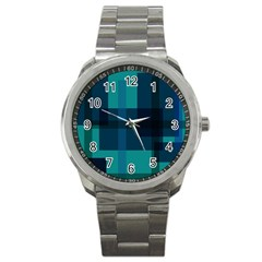 Boxes Abstractly Sport Metal Watch