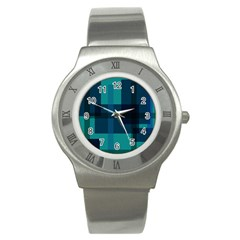 Boxes Abstractly Stainless Steel Watch