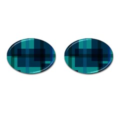 Boxes Abstractly Cufflinks (oval)