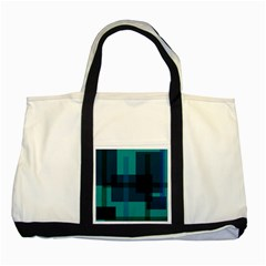 Boxes Abstractly Two Tone Tote Bag