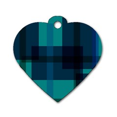 Boxes Abstractly Dog Tag Heart (one Side)