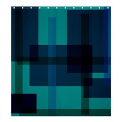 Boxes Abstractly Shower Curtain 66  X 72  (large)