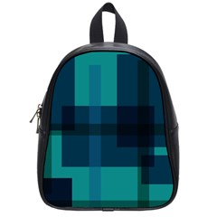Boxes Abstractly School Bags (Small)