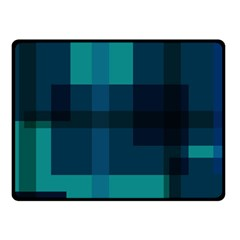Boxes Abstractly Fleece Blanket (small)