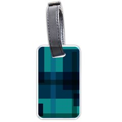 Boxes Abstractly Luggage Tags (two Sides)