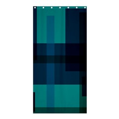 Boxes Abstractly Shower Curtain 36  X 72  (stall)