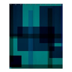 Boxes Abstractly Shower Curtain 60  x 72  (Medium)
