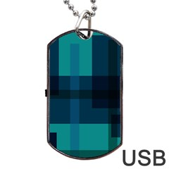 Boxes Abstractly Dog Tag USB Flash (Two Sides)